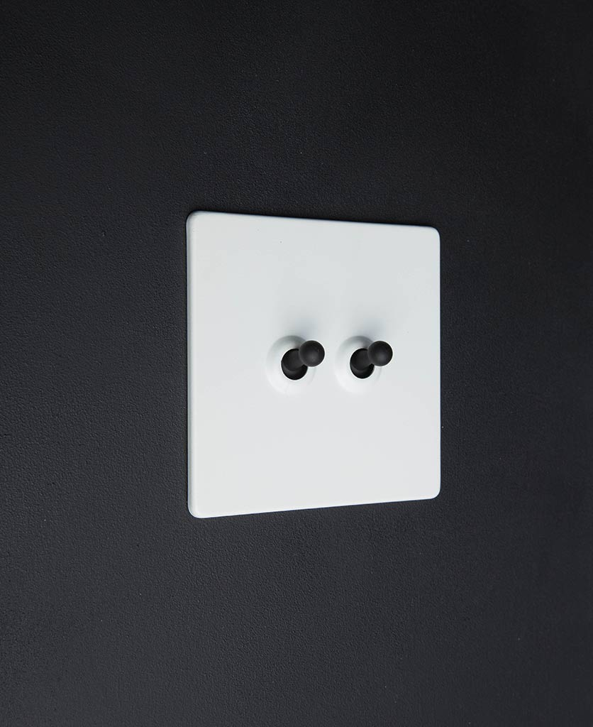 white & black double toggle switch