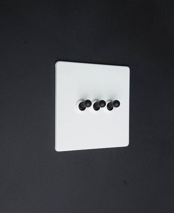 white & black triple toggle switch