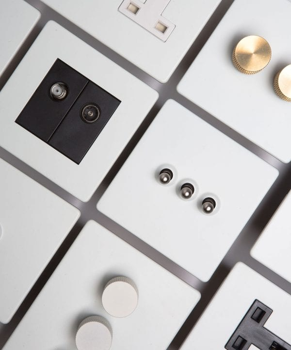 Light Switches, Dimmers & Plug Sockets in 5 Exclusive Finishes
