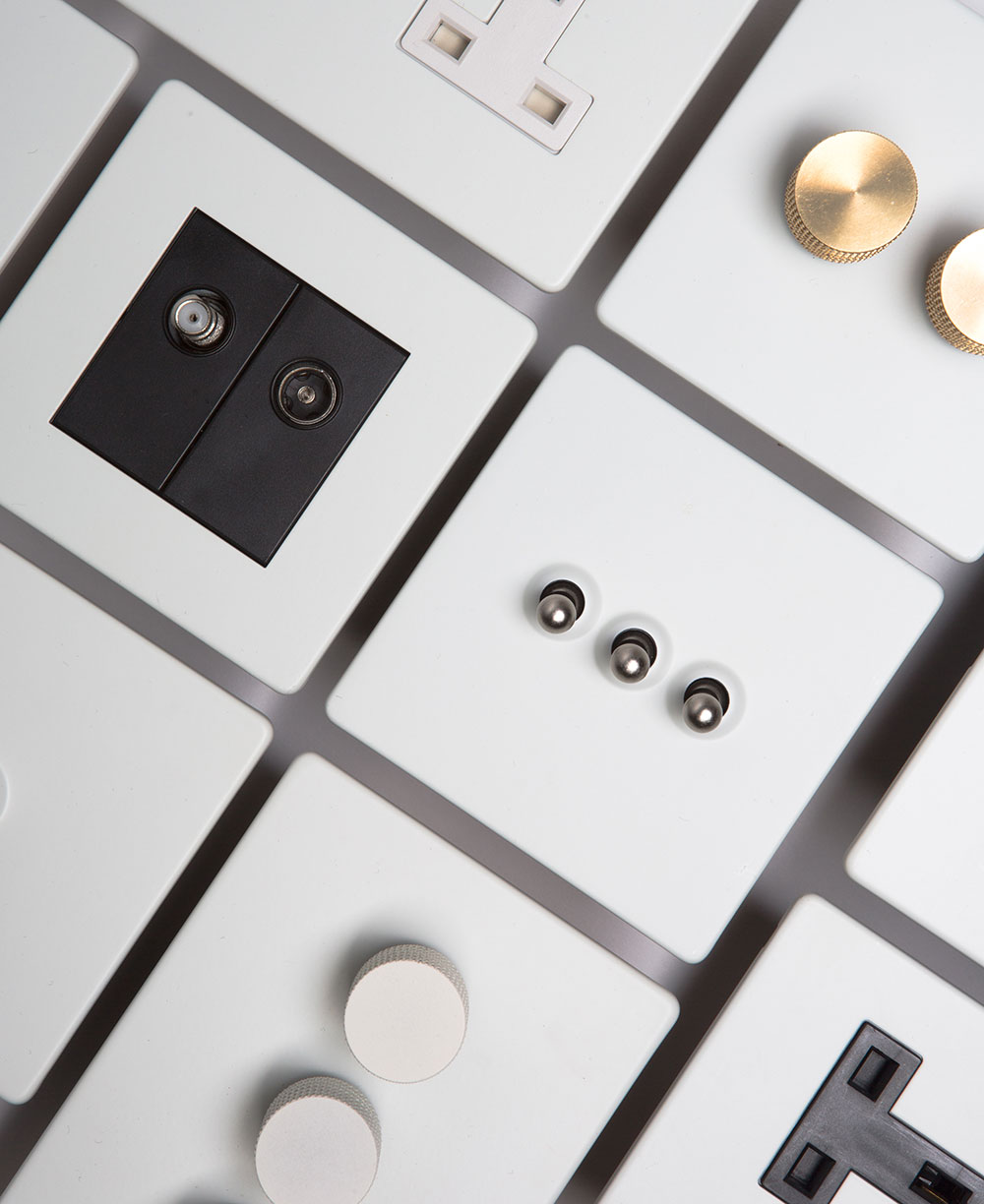 White Switches Sockets Dimmers Amp Toggles Industrial Style