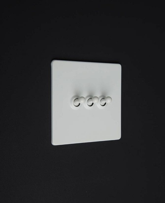 white & white trible toggle