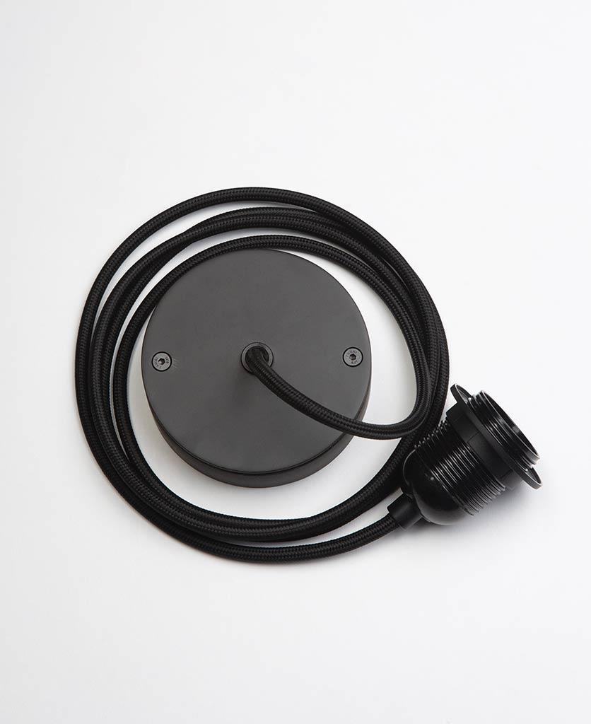 Black Pendant Cord Set