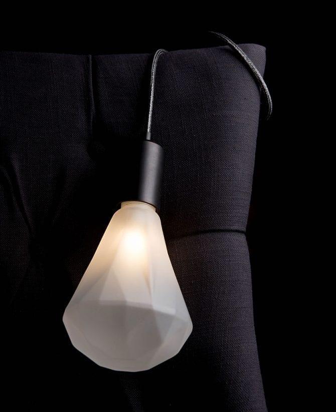 Elle Glamour Grey Christalle Table Lamp