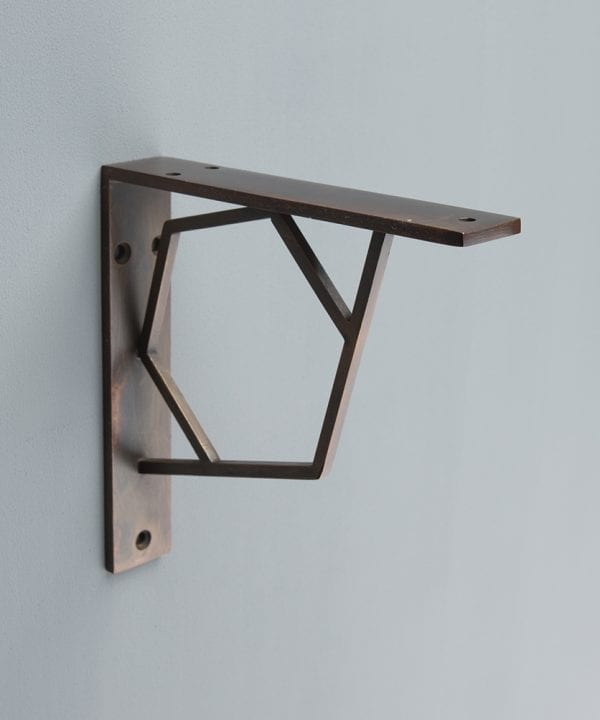 Marlene hexagonal metal shelf bracket