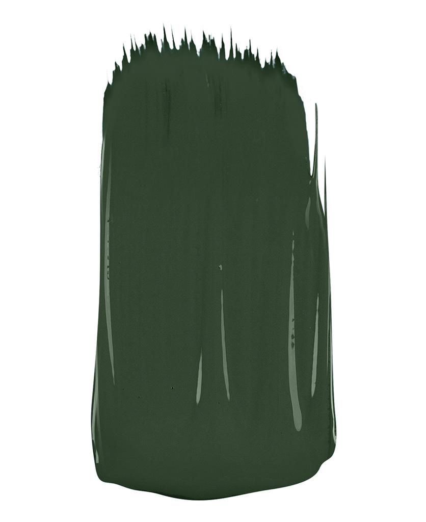 Dark green Paint sample on white background