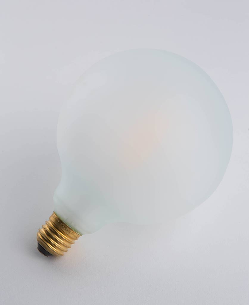 led frosted light bulbs with squirrel cage filament globe squirrel cage filament against white background