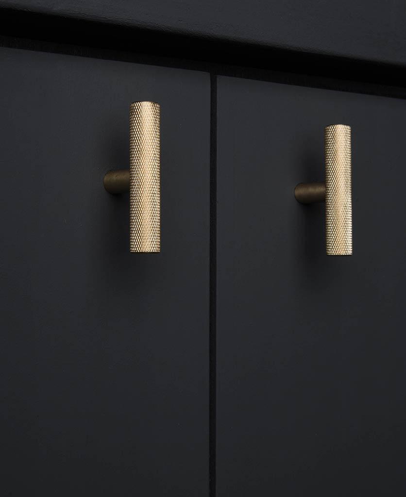 Skyscraper T Bar Knurled Kitchen Door Handle Available
