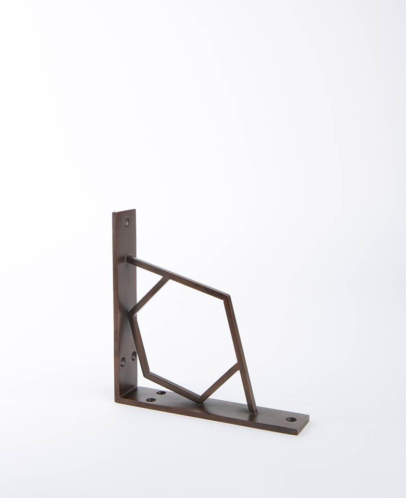 shelf bracket hex antique
