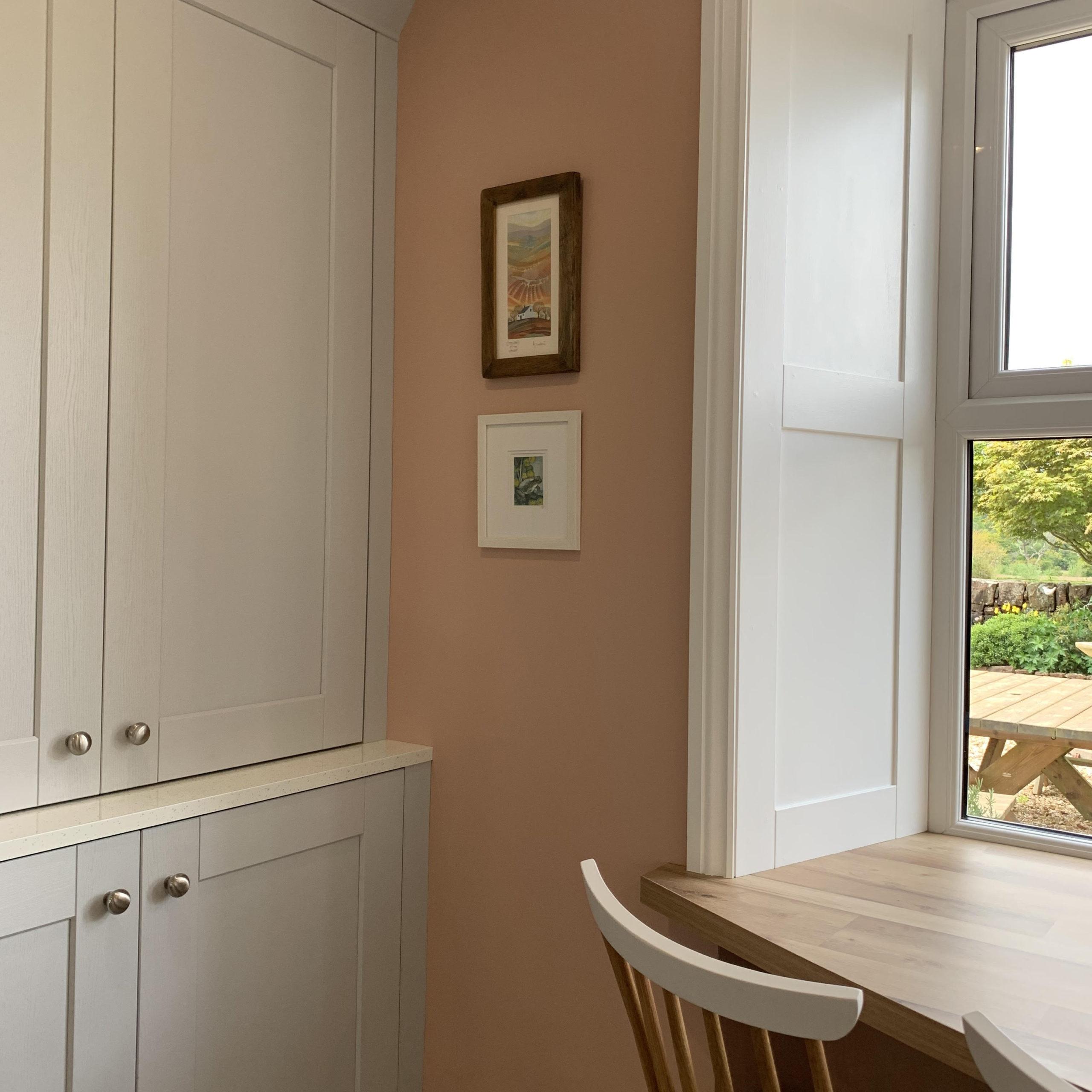 get plastered paint in kitchen diner