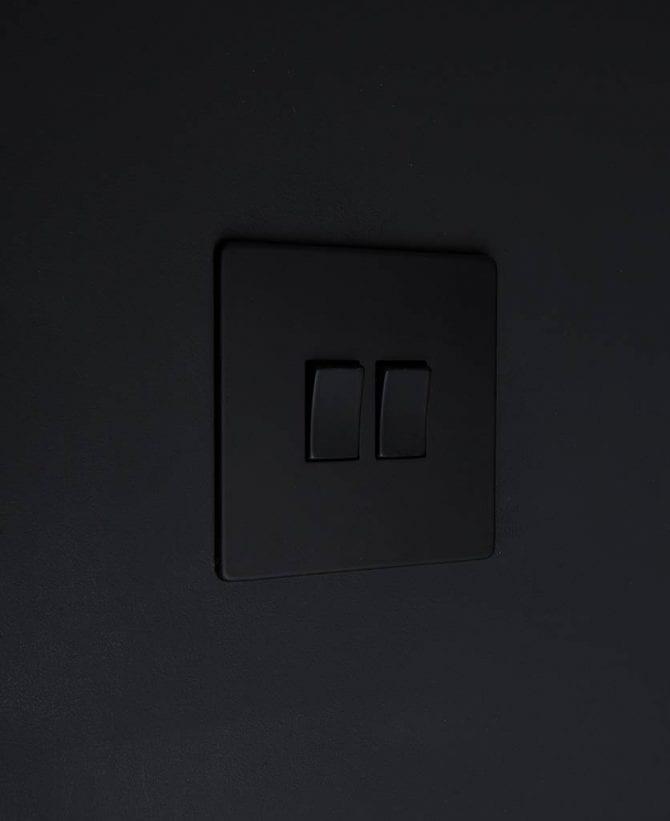 double rocker switch black & black