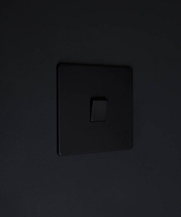 single rocker switch black & black intermediate