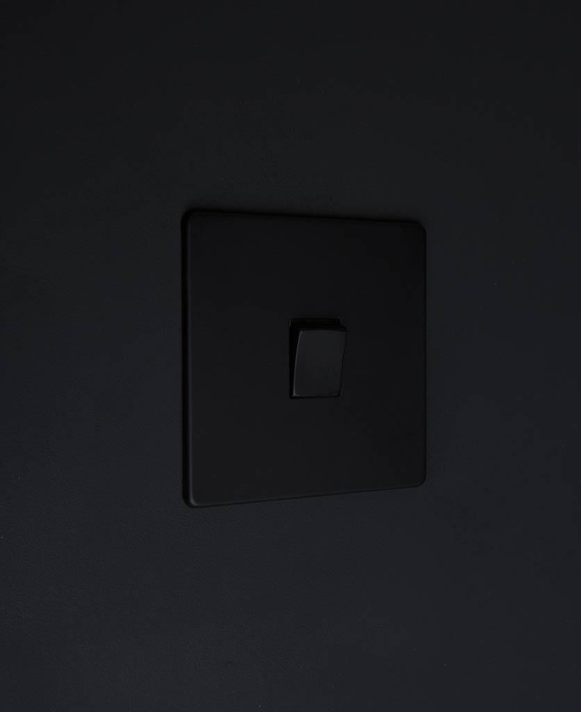 single rocker switch black & black intermediate