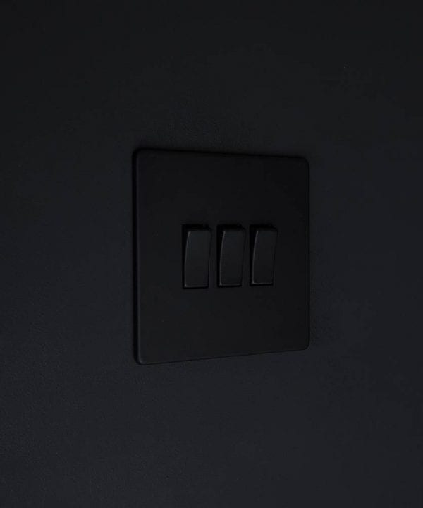 triple rocker switch black & black