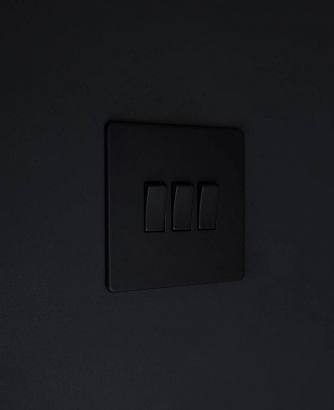 triple rocker switch black & black