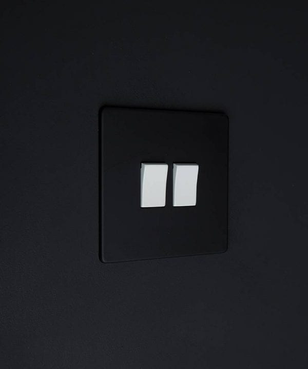 double rocker switch black & white