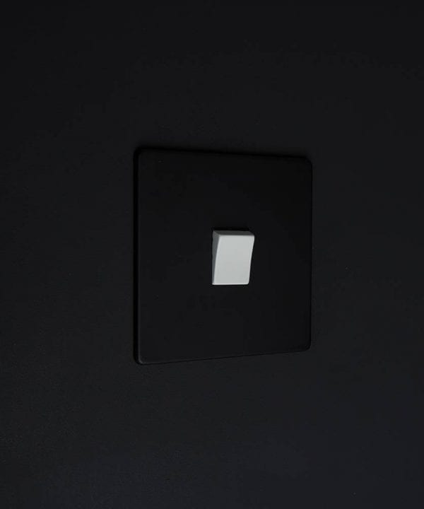 single rocker switch black & white intermediate