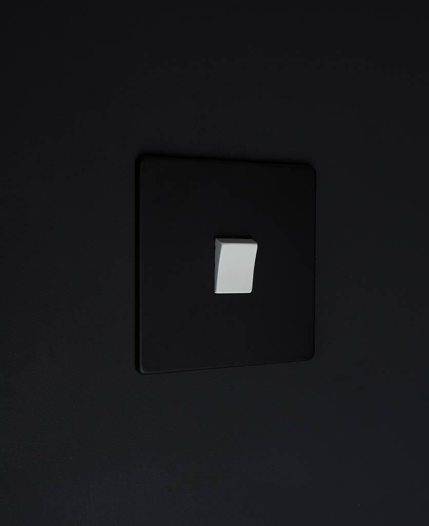single rocker switch black & white intermediate