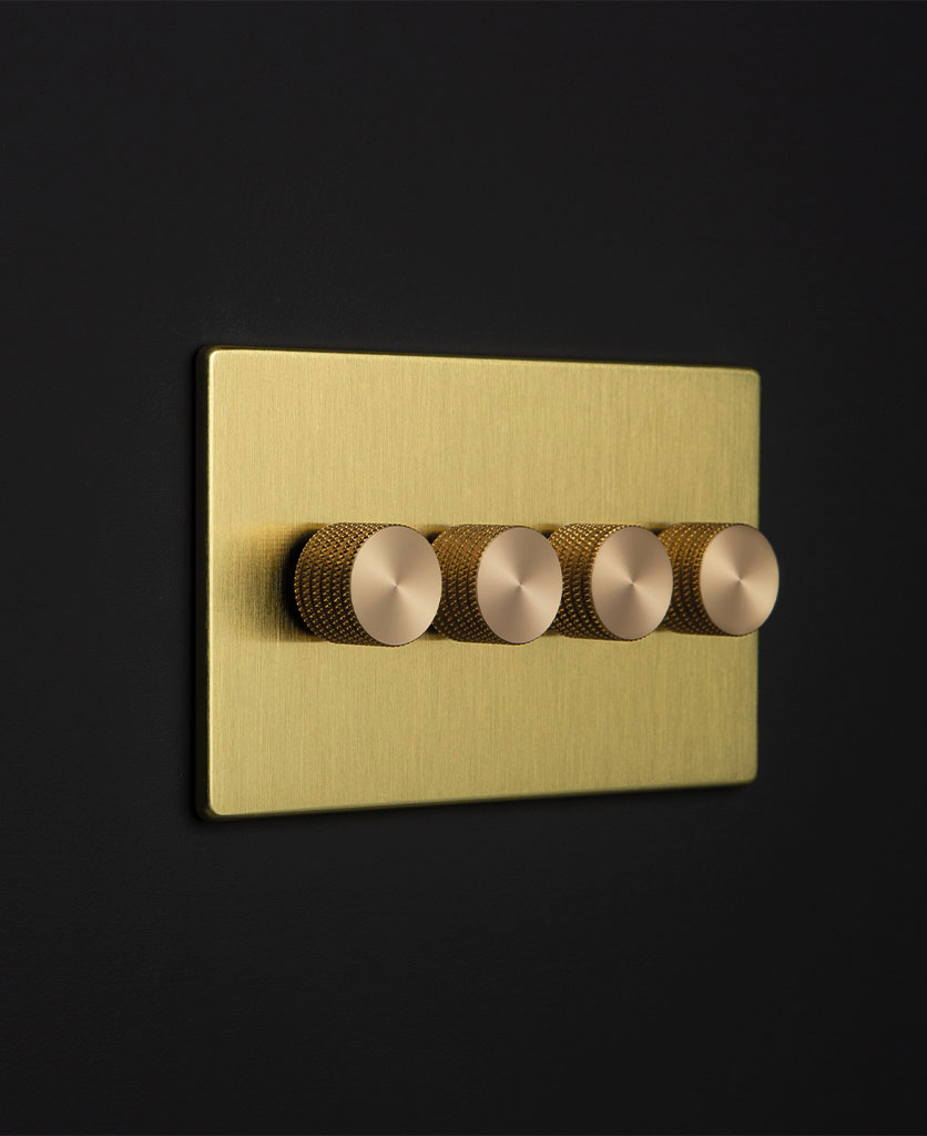 gold & gold quad dimmer