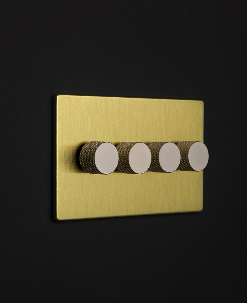gold & silver quad dimmer