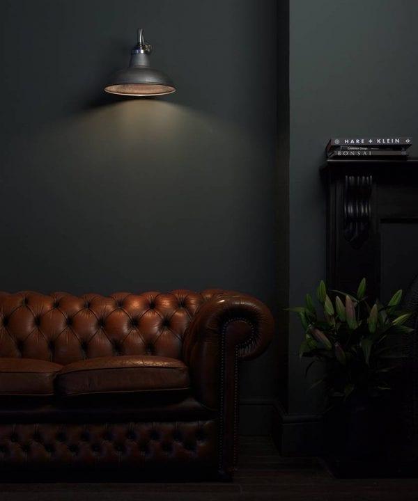swan industrial wall light
