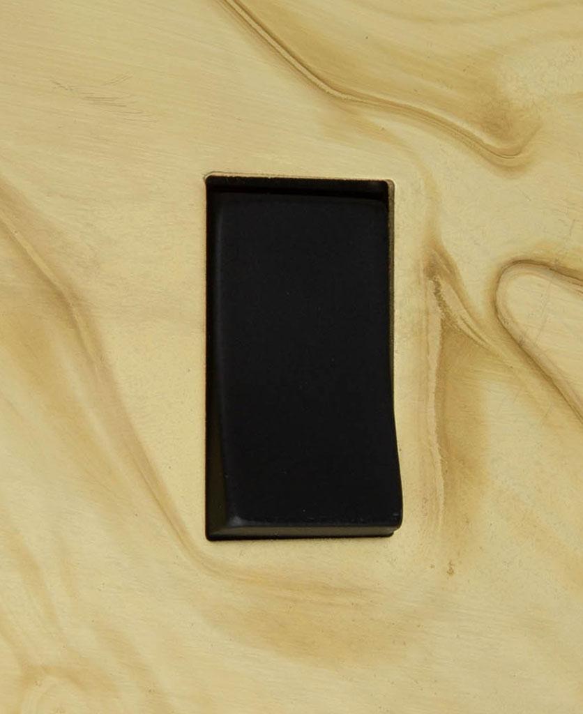 smoked gold and black single rocker switch 2-way close up
