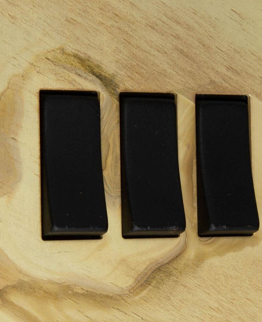 smoked gold and black triple 3g rocker switch close up