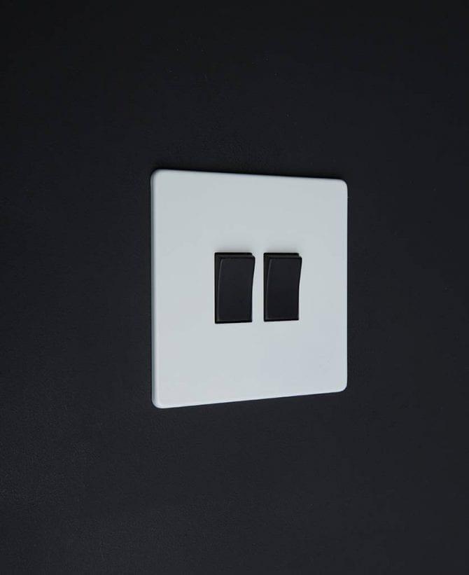 double rocker switch white & black