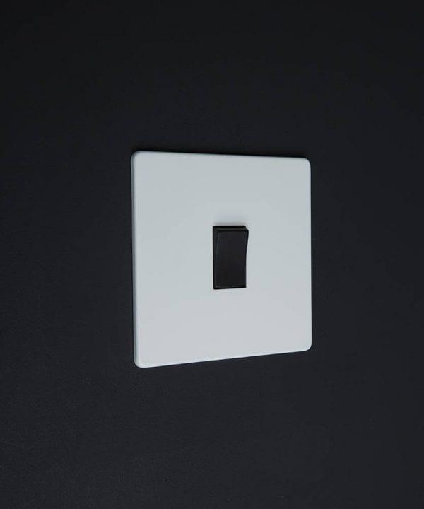 single rocker switch white & black