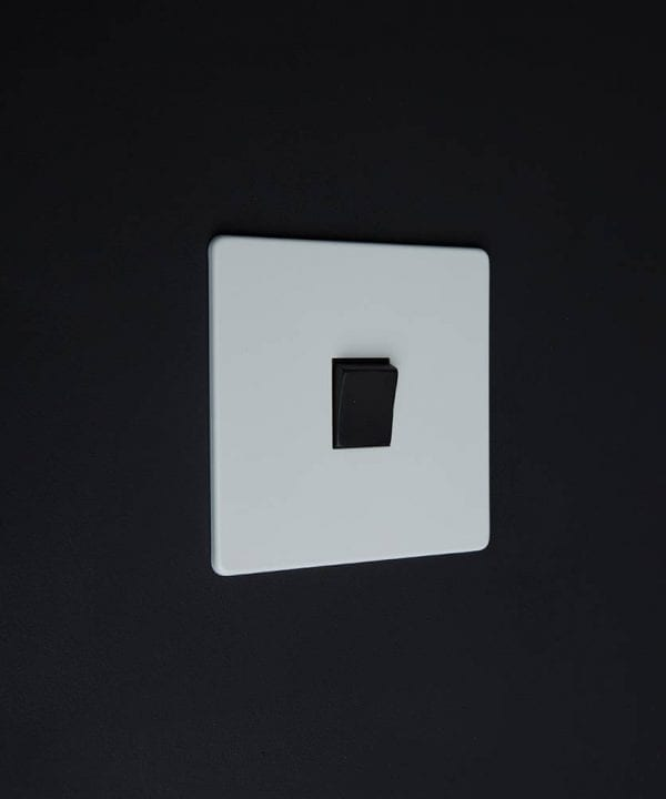 single rocker switch white & black intermediate