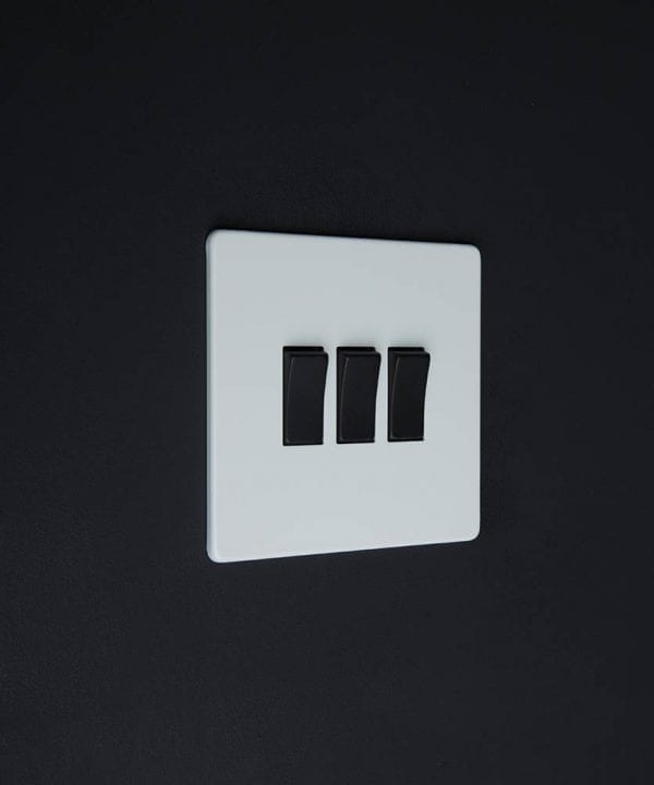 triple rocker switch white & black