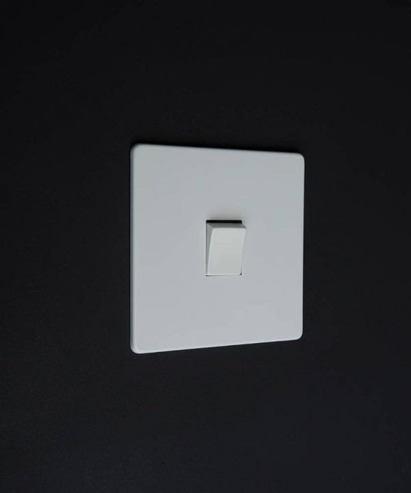 single rocker switch white & white intermediate