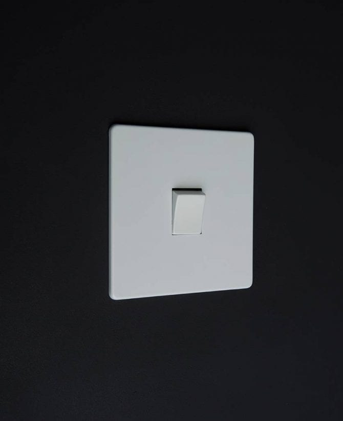 single rocker switch white & white intermediate