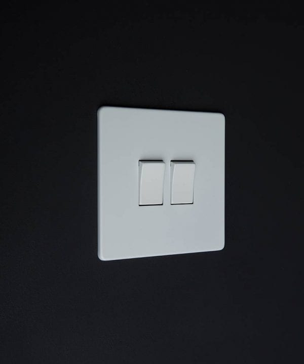 double rocker switch white & white