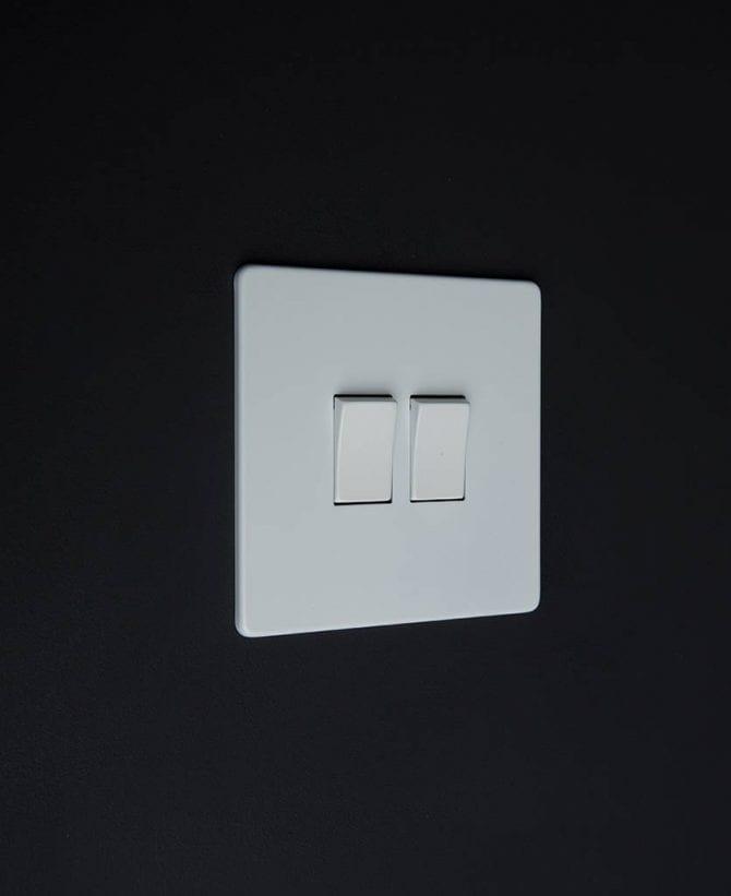 double rocker switch white & white