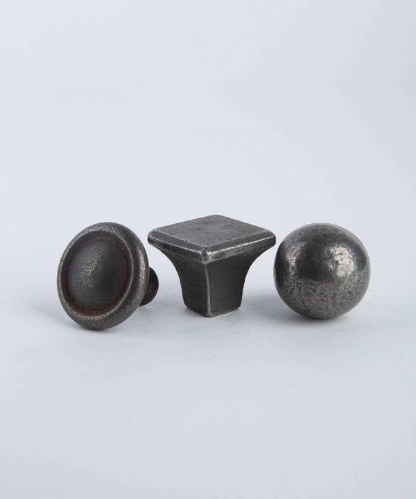 Conceptual metal knob