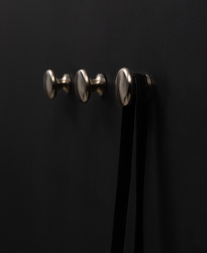 Realist silver wall hook