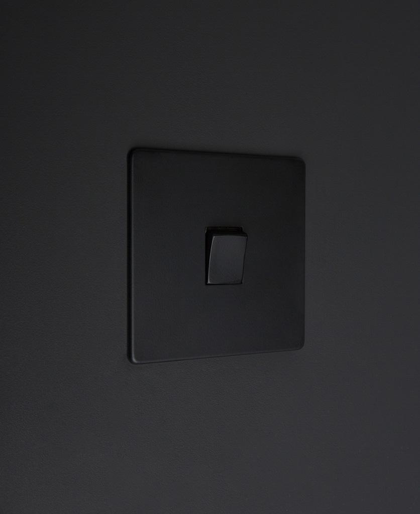 black 1g single intermediate rocker switch