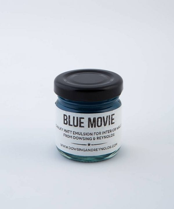 blue movie paint sample