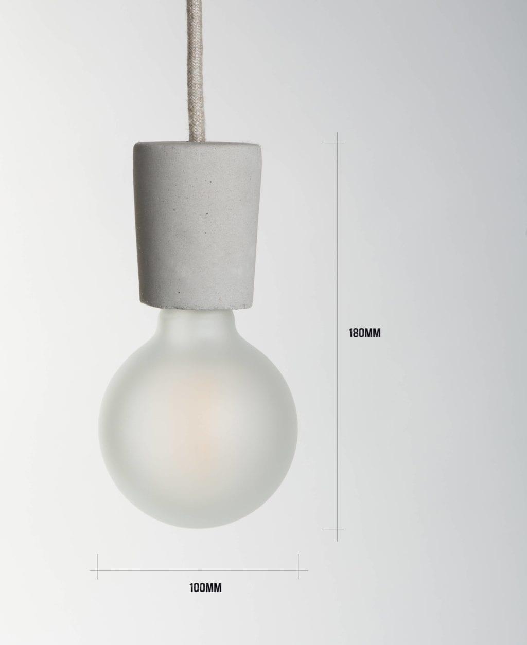 small concrete pendant dimensions