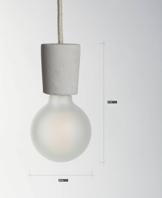 small concrete pendant dimensions