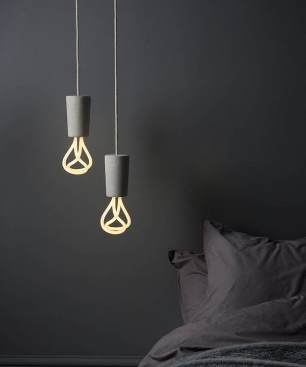 concrete plumen pendant light lifestyle