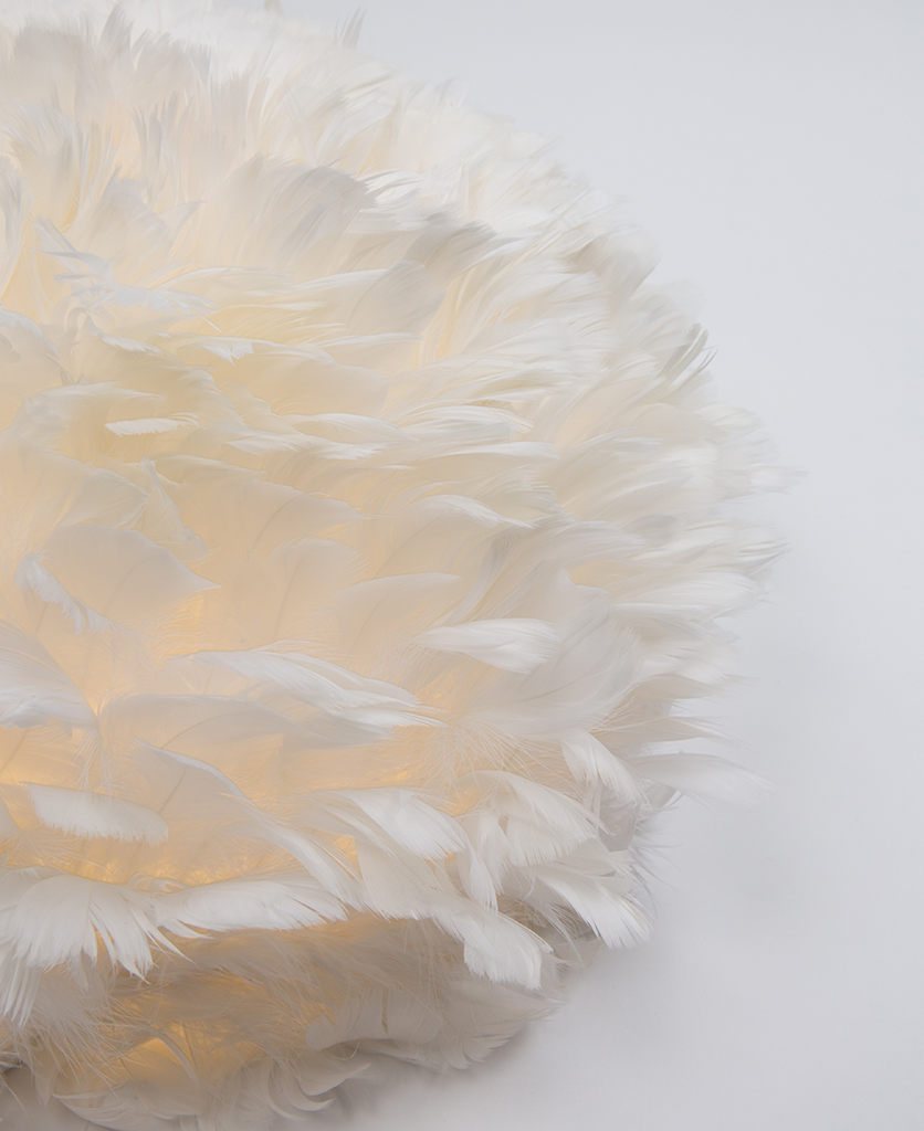 Vita EOS UP feather wall light close up
