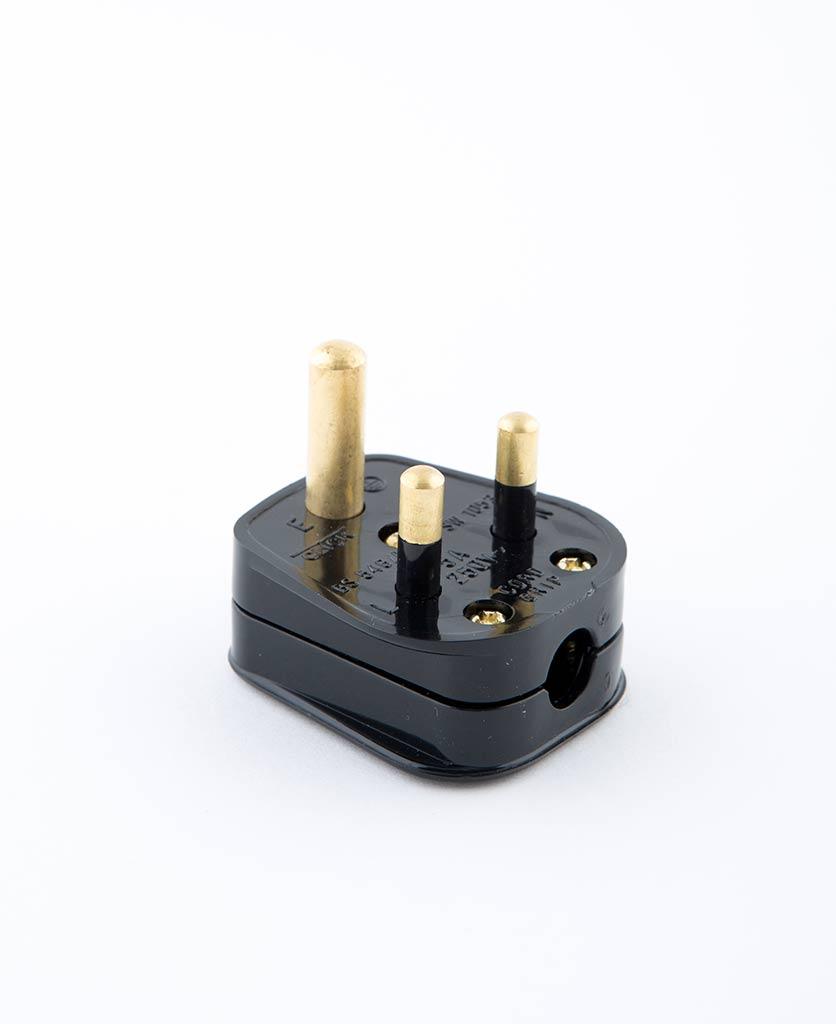 black round pin plug
