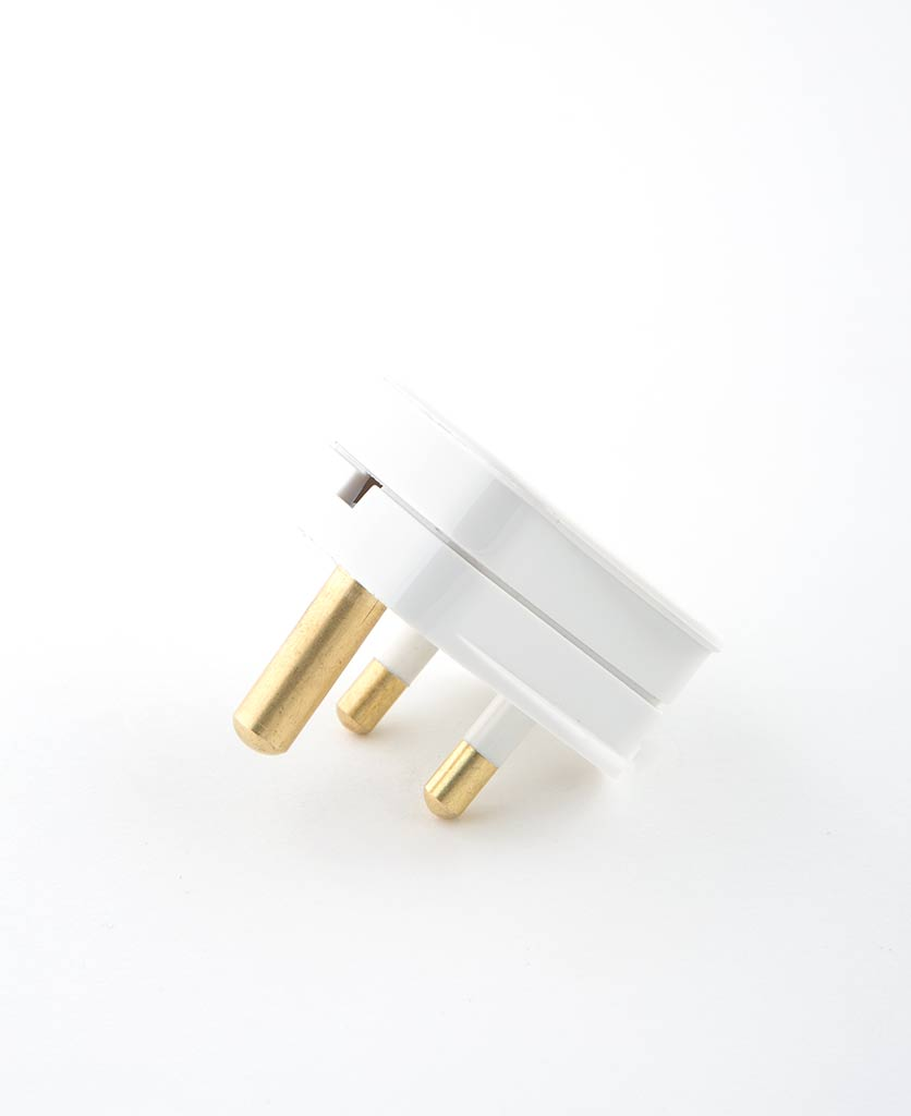 round pin plug white