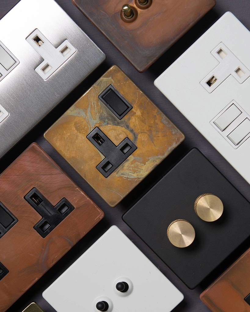 Designer Light Switches Dimmers Plug Sockets Industrial Style Wire Switch From Socket