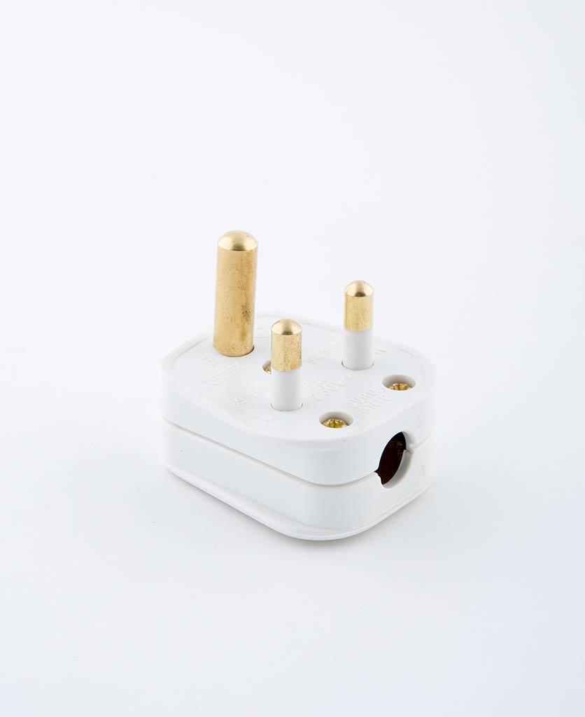 white round pin plug