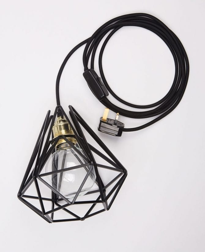cage table lamp assam