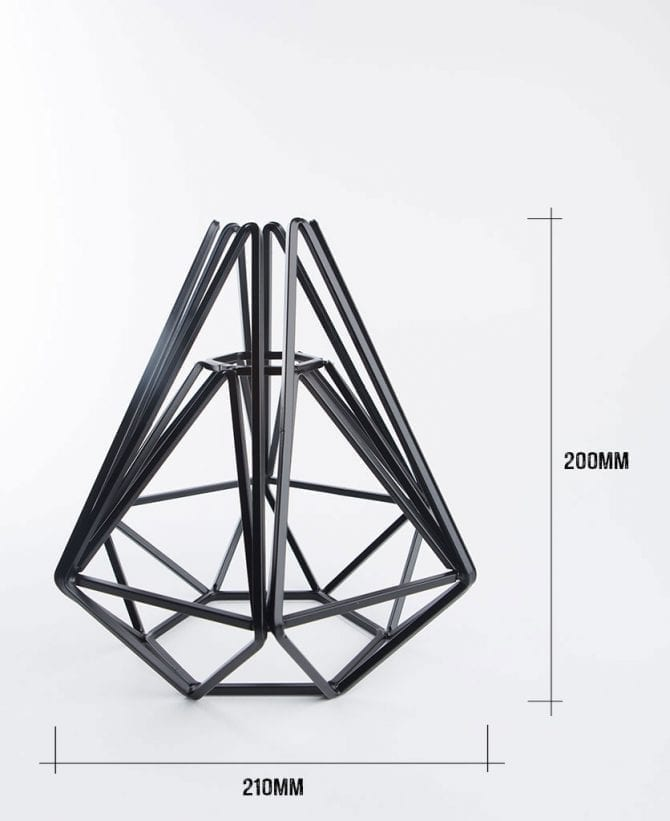 assam cage table lamp dimensions