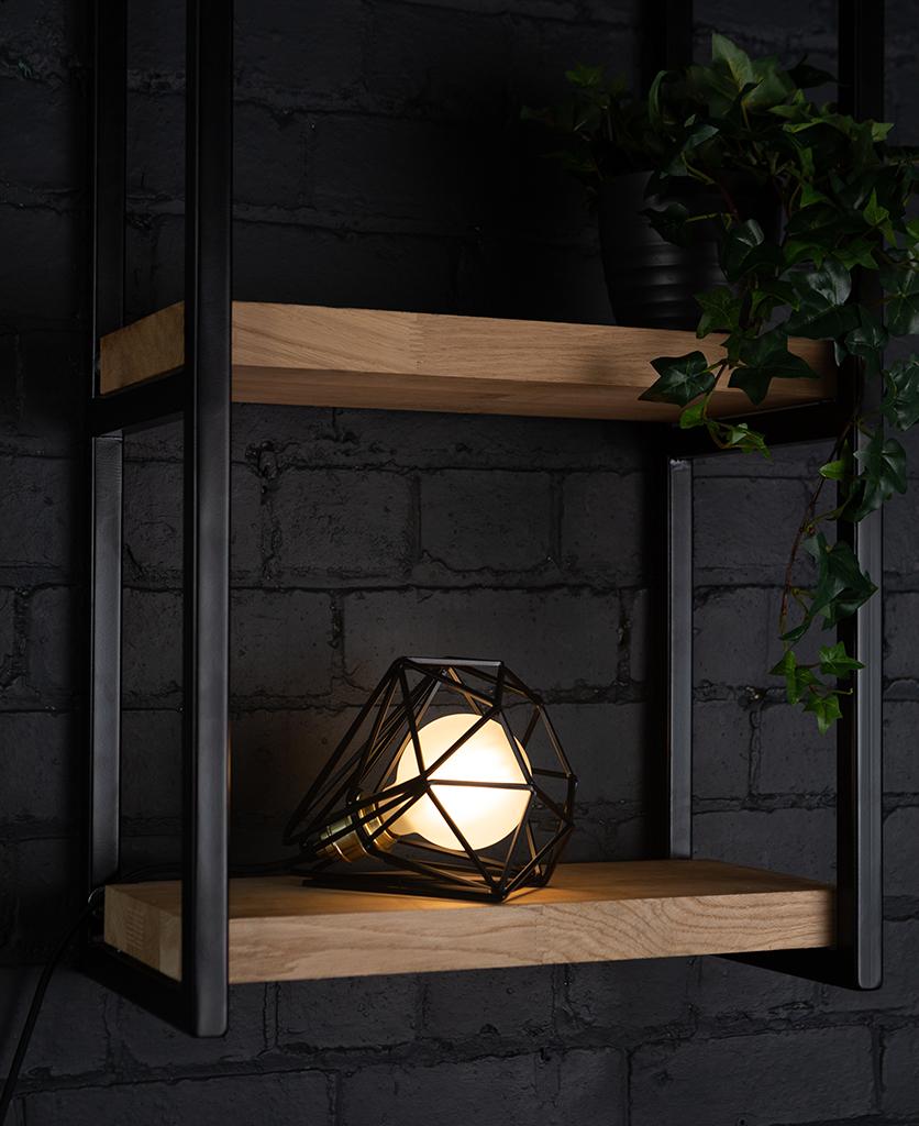 Assam black table lamp