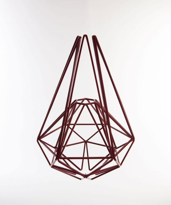 hibiscus geometric cage light shade large